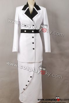 Titanic Rose Cosplay Costume White Maiden Uniform Suit Lady White Dress In Stock