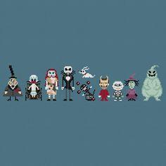 Pixels In Stitches : L'Etrange Noël de Monsieur Jack de Tim Burton