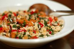 Simple Recipe: Red Pepper, Sausage, and Chard Risotto