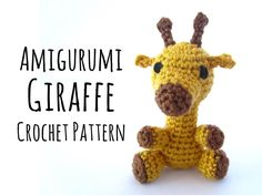 The Giraffe, tallest land living mammal, unique in its appearance and now very fast crocheted as cuddly Amigurumi (in a ... mehr