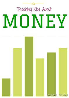 Tips for teaching kids about money -the value of money, saving money, and frugal living.