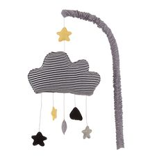 Buy John Lewis Baby's Cloud And Stars Mobile, Grey Online at johnlewis.com