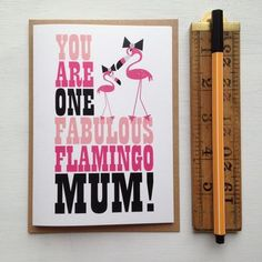 'You Are One Fabulous Flamingo Mum' Mothers Day Card