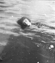 me...not swimming, you understand, just out at sea...drifting...