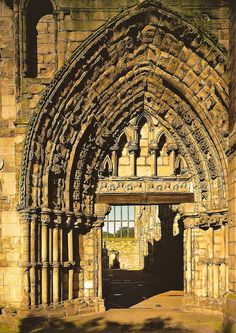 Holyrood Abbey Ruins at the Royal Palace of Holyroodhouse Edinburgh Scotland by mbell1975, via Flickr
