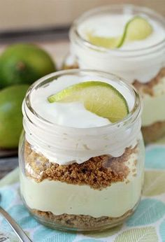This no-bake key lime pie in mason jars might be the cutest summer dessert