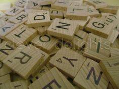 300 SCRABBLE TILES *NEW Wood Scrabble Letters* Pendants Crafts Spelling Pieces