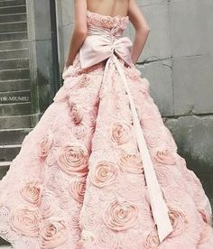 CHANEL Pink evening gown