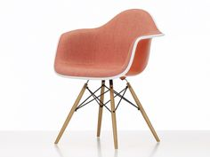 A beautiful example of modern and contemporary design. Shop the Vitra Upholstered DAW Eames Plastic Armchair at Nest.co.uk