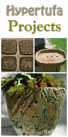 Craft Projects This is a guide about hypertufa craft projects. This simple mixture of Portland…This is a guide about hypertufa craft projects. This simple mixture of Portland… Diy Concrete Planters, Cement Art, Concrete Crafts, Concrete Garden, Diy Planters, Concrete Projects, Concrete Design, Garden Crafts, Garden Projects