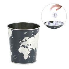 Papelera Globe mapamundi... deshazte los papeles que no quieras hechos una bola, o mejor.. ¡un avión! :-)