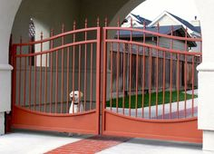 ARCHED & SCALLOPED STEEL DRIVEWAY GATES «  Arbor Fence Inc | a Diamond Certified Company