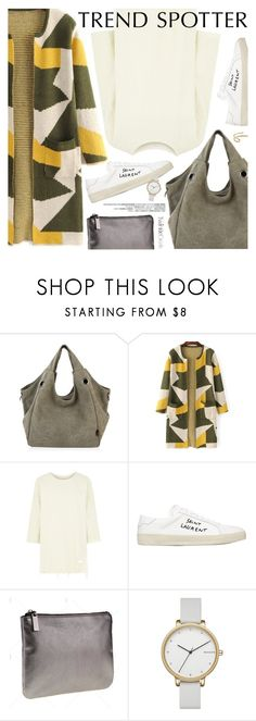 """""""Casual Style"""" by pokadoll ❤ liked on Polyvore featuring WÃ¥ven, Yves Saint Laurent, Skagen, Fay Andrada, polyvoreeditorial and polyvoreset"""