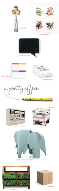 How to make a pretty office space.