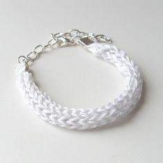 white silk bracelet