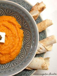 Kürbis zum Dippen / Kürbis-Hummus
