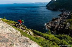 Kaelam Power riding near St. John's, Newfoundland and Labrador, Canada Newfoundland Canada, Newfoundland And Labrador, Mtb, Canada Mountains, Discover Canada, Bike Magazine, Hiking Spots, Mountain Bike Trails, Sea Otter