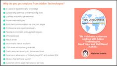 Why do people choose services from Addon Technologies?