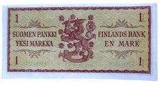 Early 1960s one Finnish mark bill