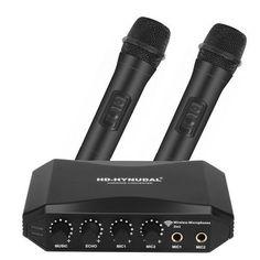 HD-Hynudal Karaoke Machine Echo Mixer+ Two Wireless Mics YAMAHA Chipset Phone PC