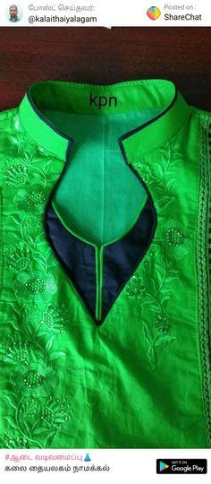 Neck designs Chudithar Neck Designs, Salwar Neck Designs, Saree Blouse Neck Designs, Churidar Designs, Kurta Neck Design, Neck Designs For Suits, Neckline Designs, Kurta Designs Women, Dress Neck Designs