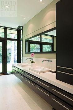 The Home | David's House | David Small Designs - master bath cabinet on counter