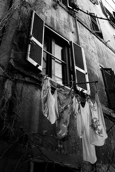 I love laundry photography AND black and white photography