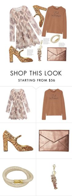 """""""The Golden Age"""" by hattie4palmerstone ❤ liked on Polyvore featuring See by Chloé, Lingua Franca, Dolce&Gabbana and Rebecca Minkoff"""