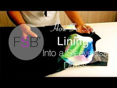 Make a Dress with a Lining - Sewing Patterns from Angela Kane - Part 8 - YouTube