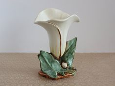 Vintage McCoy Pottery Calla Lilly Vase Hand Painted McCoy Vase