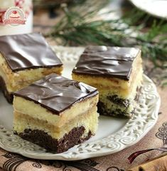 Apples are creamy Sweet Recipes, Cake Recipes, Hungarian Recipes, Food Decoration, Creative Cakes, Winter Food, Cakes And More, Cake Cookies, Fudge