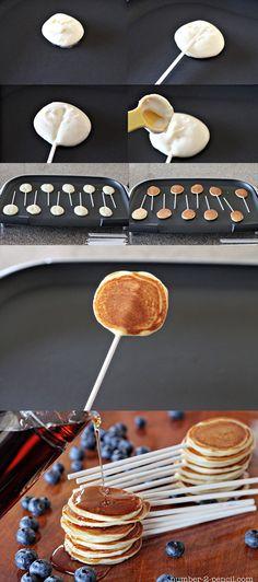 DIY Pancake Pops by bellebebes #Pancakes #Pops