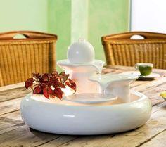 Locarno White - Ceramic Water Feature