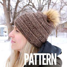 "Crochet Pattern // ""The Linden Beanie"" // Hat pattern /Crochet Pattern / hat pattern / beanie pattern / crochet – Knitting For Beginners Bobble Stitch Crochet, Easy Crochet Hat, Crochet Vest Pattern, Crochet Beanie Hat, Beanie Pattern, Tunisian Crochet, Crochet Hooks, Booties Crochet, Chunky Crochet"