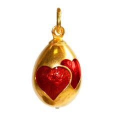 Hearts Egg Pendant Red, £56, now featured on Fab.