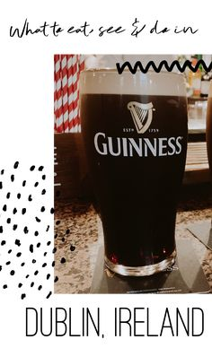 Want to visit Dublin, Ireland? I have made the ultimate bucket list for all things to see and visit in Dublin. Visit Dublin, Dark Beer, Dublin Ireland, Guinness, Fun Drinks, Ivory, Eat, Glass, Beer