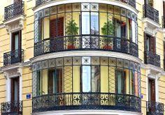 Calle de Barceló Madrid, Skyline, Art Nouveau, Barcelona, Windows, Memories, Doors, Building, Travel