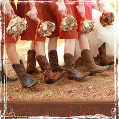 love the flowers and the boots and the dress color!!