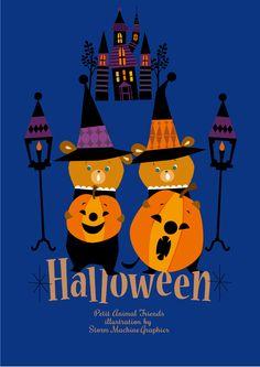 storm machine graphics illustration Halloween Math, Halloween Poster, Halloween Clipart, Spirit Halloween, Holidays Halloween, Halloween Themes, Happy Halloween, Vintage Halloween Cards, Inktober