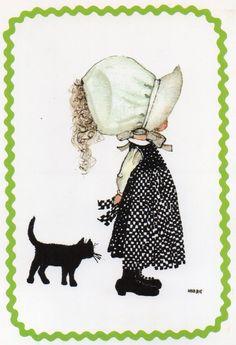 Alte Ansichtskarte Holly Hobbie von CuteEyeCatchers auf Etsy
