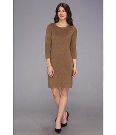 Calvin Klein L/S Wave Knit Sweater Dress