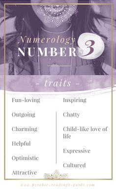 The numerology number 3 is full of heart-melty charm! Read number 3 traits, love matches and more here. Numerology Calculation, Numerology Numbers, Astrology Numerology, Numerology Chart, Leadership Personality, Horoscope Love Matches, Expression Number, Life Path Number, Life Path 3