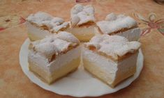 Very delicious, easy Cloud Slice Cake! Try it very delicious! Mini Pastries, Homemade Pastries, Hungarian Desserts, Hungarian Recipes, Cream Cheese Pastry, Cookie Recipes, Dessert Recipes, Pastry Display, Pastry Design