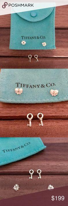 b373f7dc4 🆕Listing! Tiffany Key Earrings Sterling silver small keys with original  Tiffany backs. These