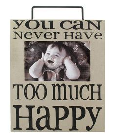 Look at this 'Too Much Happy' Box Frame on #zulily today!
