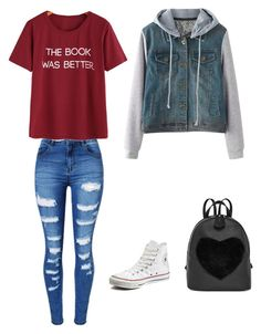 """School"" by thedaniellefisher on Polyvore featuring WithChic and Converse"