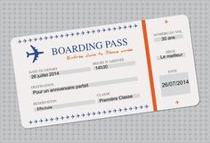 Birthday Template 5th Cards Parties Boarding Pass Invitation