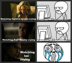 No watching Candice crying is sad too