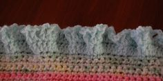 How to add a ruffled edge to any crocheted project.