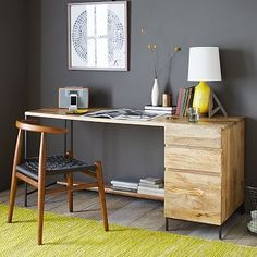 "This plus the 67"" media console, both 30"" high.  (This 65x24x31)  Rustic Modular Desk Set – Box File"